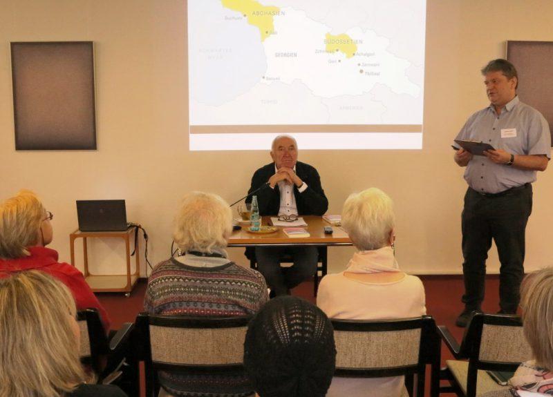 Dr. Dieter Boden referiert über Konflikte im Kaukasus