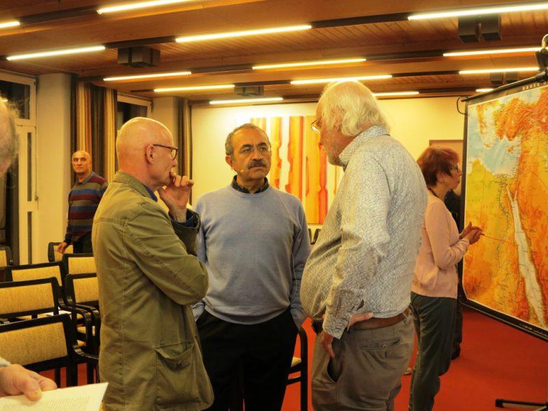 Expertengespräch: Die Referenten E. Maaß, A. Kartosia, W. Schulze