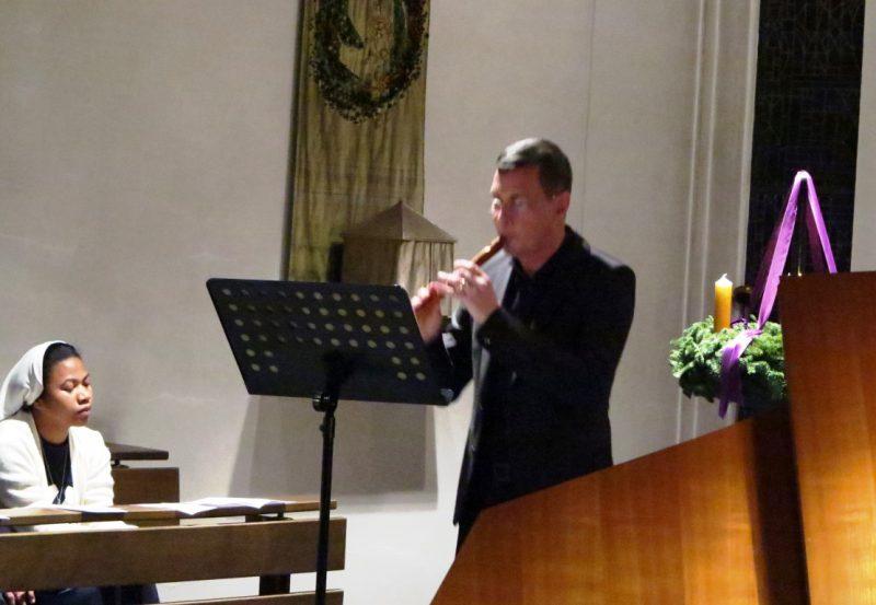 Dieter Thönnes brilliert mit seinen Blockflöten