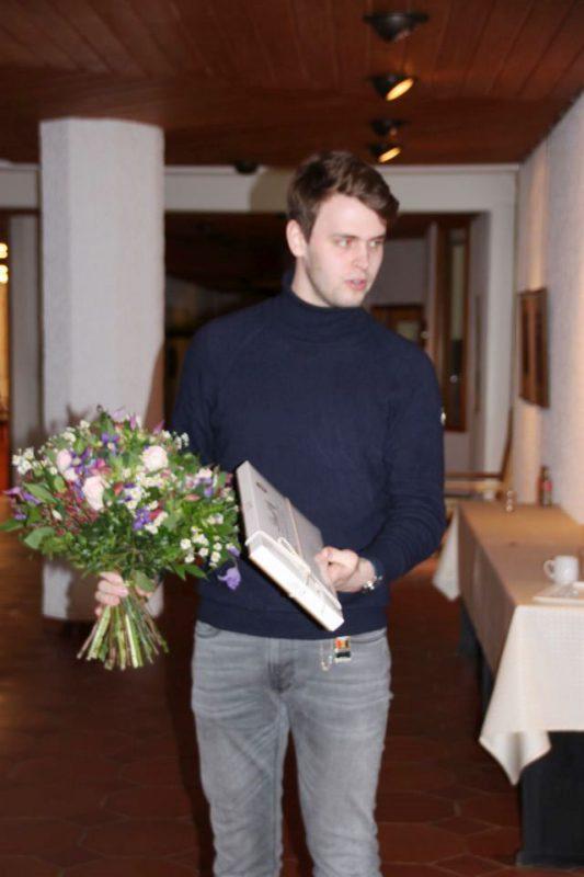 Blumen als Dank für das Haus