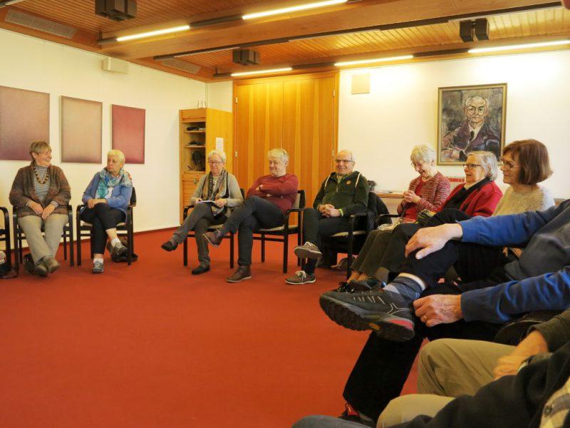 Vorschläge für das nächste Kirchenführerseminar werden gesammelt