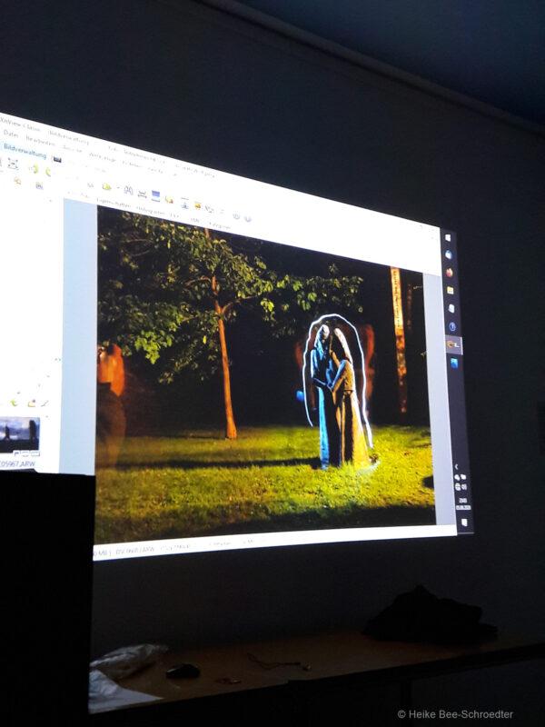Präsentation dre Teilnehmerfotos (©Foto: H. Bee-Schroedter)