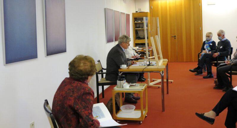 Pfarrer Stephan Bickhardt bei seinem Referat