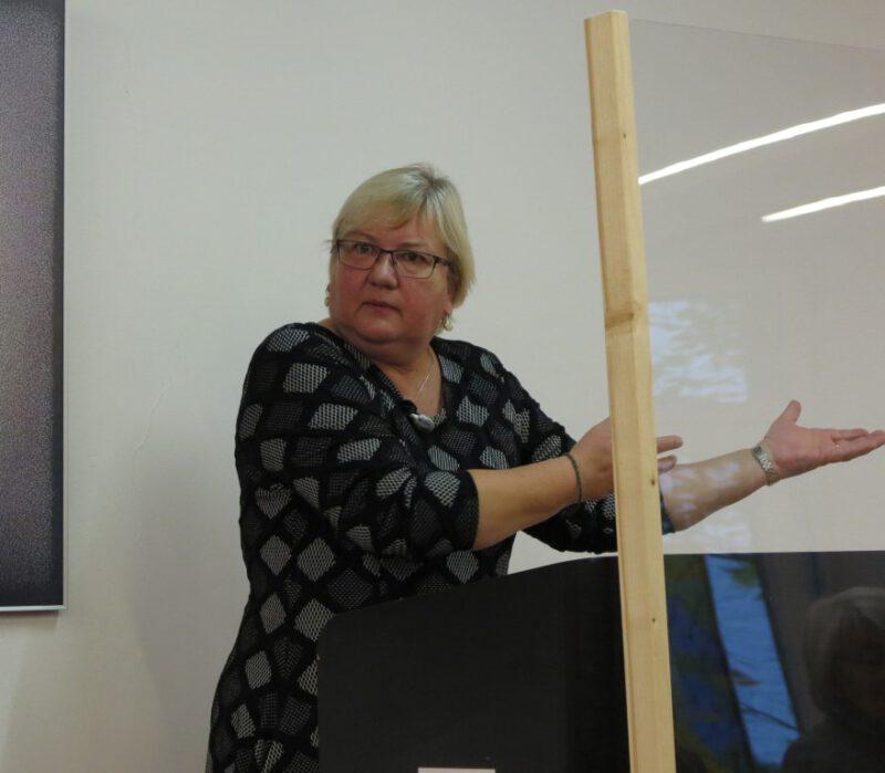 Iris Gleicke bei ihrem Vortrag