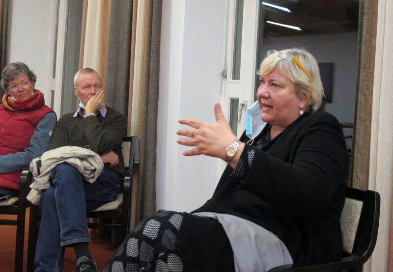 Iris Gleicke in der Diskussion