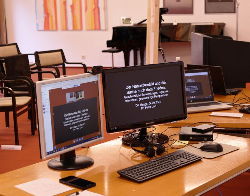 Zum ersten Mal auf der Hegge:  Der Vortrag von Dr. Lintl soll auch für online zugeschaltete Teilner übertragen werden